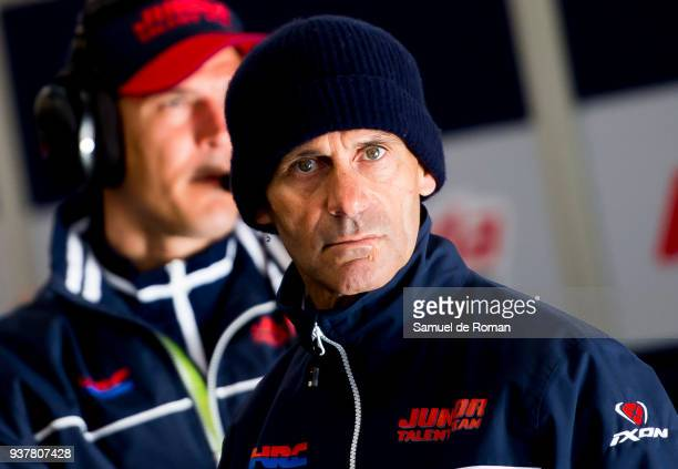 Manager Alberto Puig of Spain and Asia Talent Team during the Moto3 Junior World Championship in Estoril on March 25 2018 in Estoril Portugal