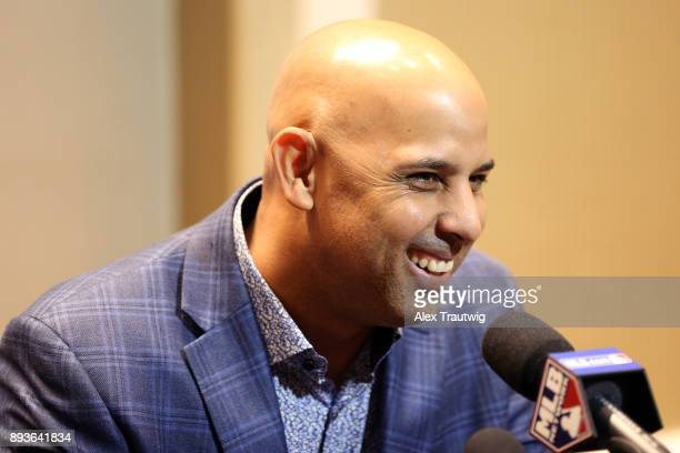 Manager Alex Cora of the Boston Red Sox speaks during media availability at the 2017 Winter Meetings at the Walt Disney World Swan and Dolphin on...