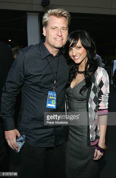Manager and father Joe Simpson and singer Ashlee Simpson arrives at the 2004 Radio Music Awards at the Aladdin Theater on October 25, 2004 in Las...