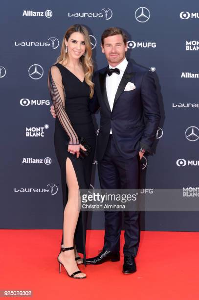 Manager Andre VillasBoas and Joana Maria Noronha de Ornelas Teixeira attend the 2018 Laureus World Sports Awards at Salle des Etoiles Sporting...