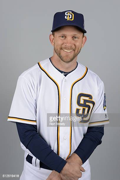 Manager Andy Green of the San Diego Padres poses during Photo Day on Friday February 26 2016 at Peoria Stadium in Peoria Arizona