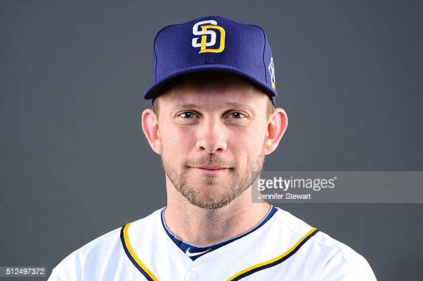Manager Andy Green of the San Diego Padres poses for a portrait during spring training photo day at Peoria Sports Complex on February 26 2016 in...