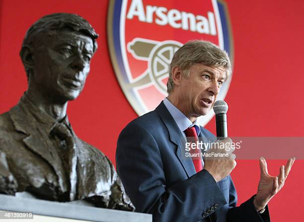 Manager Arsene Wenger speaks at the Arsenal AGM at Emirates Stadium on October 18 2007 in London England