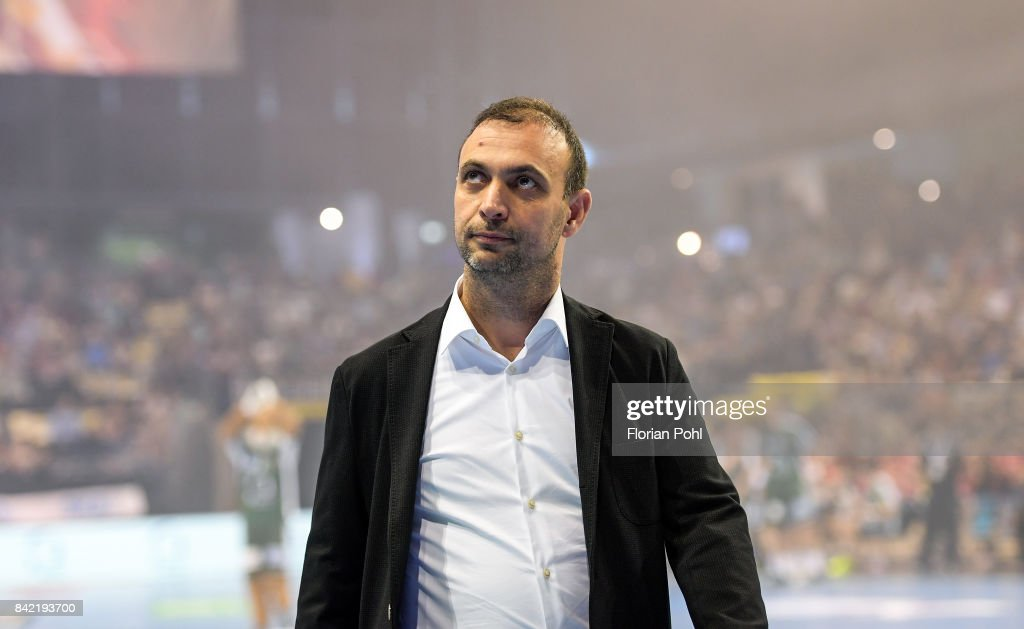 Manager Bob Hanning of Fuechse Berlin before the game between Fuechse Berlin and the Eulen Ludwigshafen on September 3, 2017 in Berlin, Germany.