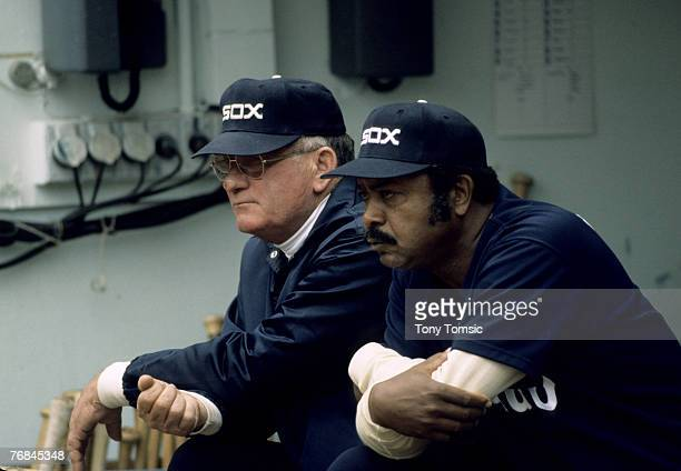 Manager Bob Lemon and Larry Doby of the Chicago White Sox Doby replaced Lemon as manager in 1978