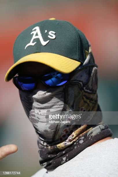 Manager Bob Melvin of the Oakland Athletics stands on the field during summer workouts at RingCentral Coliseum on July 14, 2020 in Oakland,...
