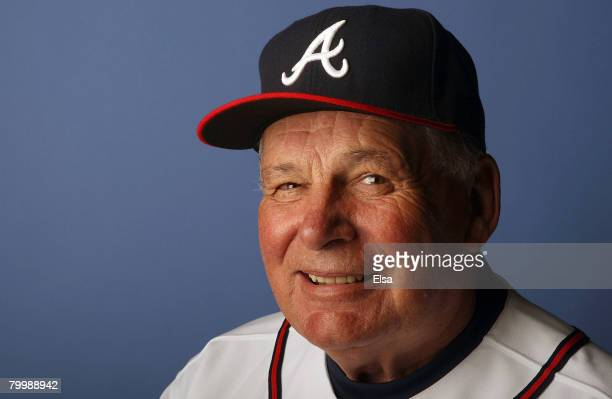 Manager Bobby Cox of the Atlanta Braves poses during photo day on February 25 2008 at Disney's Wide World of Sports in Kissimmee Florida