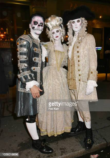 Manager Boudou Gueffai, Tessa Hilton and Barron Hilton attend the Bal Des Vampires Hosted by Le Bal des Princesses At The Pachmama Club on October...