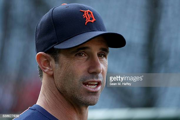 Manager Brad Ausmus of the Detroit Tigers during a baseball game against the Los Angeles Angels of Anaheim at Angel Stadium of Anaheim on May 31 2016...