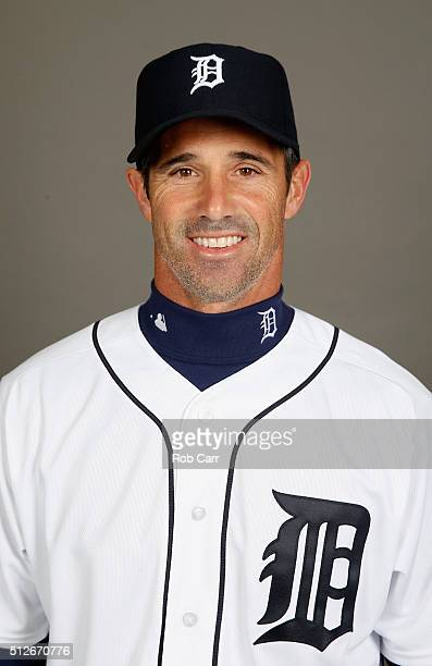 Manager Brad Ausmus of the Detroit Tigers poses during photo day at Joker Marchant Stadium on February 27 2016 in Lakeland Florida