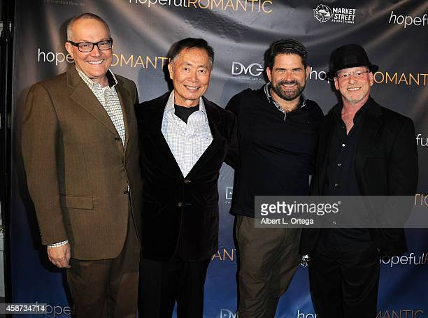 Manager Brad Takei actor George Takei actor Matt Zarley and director Benjamin Pollack arrive for the Special Screening of Matt Zarley's...