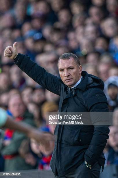Manager Brendan Rodgers of Leicester City during the Premier League match between Crystal Palace and Leicester City at Selhurst Park on October 3,...