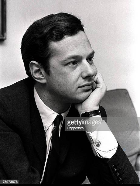 Manager Brian Epstein, manager of various 1960's pop groups including The Beatles, poses for a portrait, 1965