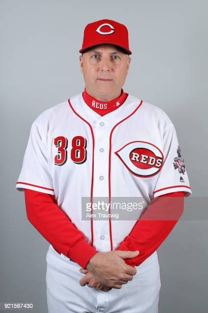 Manager Bryan Price of the Cincinnati Reds poses during Photo Day on Tuesday February 20 2018 at Goodyear Ballpark in Goodyear Arizona