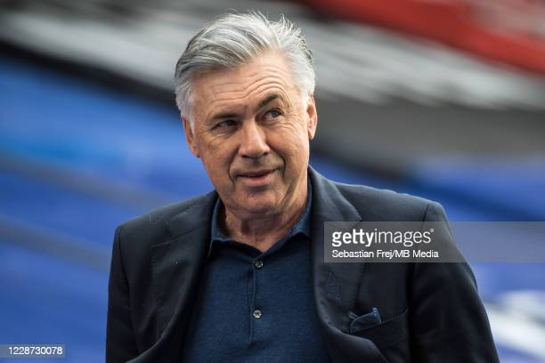 Manager Carlo Ancelotti of Everton looks on during the Premier League match between Crystal Palace and Everton at Selhurst Park on September 26, 2020...