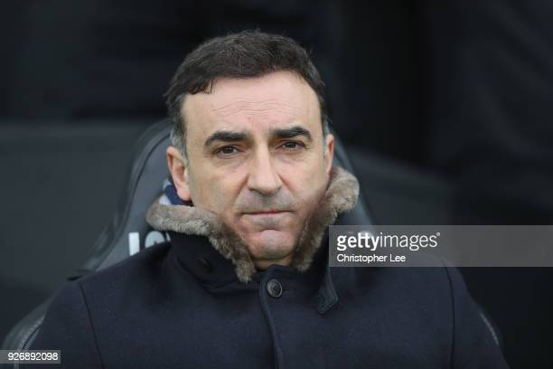Manager Carlos Carvalhal of Swansea City during the Premier League match between Swansea City and West Ham United at Liberty Stadium on March 3 2018...