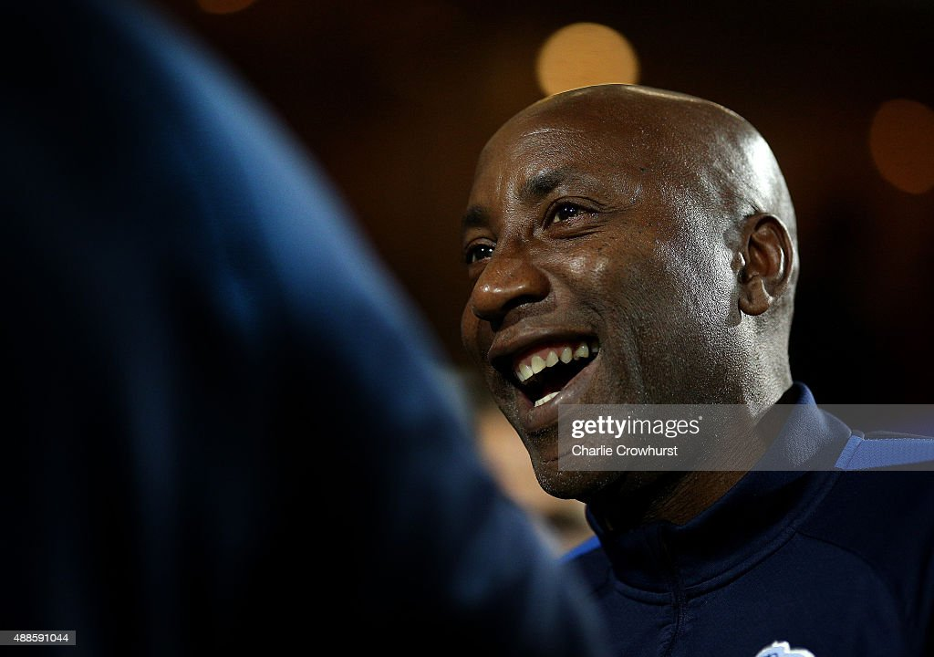QPR manager Chris Ramsey during the Sky Bet Championship match between Queens Park Rangers and Blackburn Rangers at Loftus Road on September 16, 2015 in London, England.