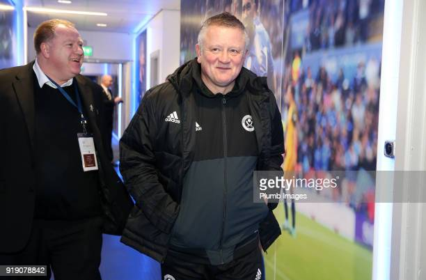 Manager Chris Wilder of Sheffield United arrives at King Power Stadium ahead of the FA Cup fifth round match between Leicester City and Sheffield...