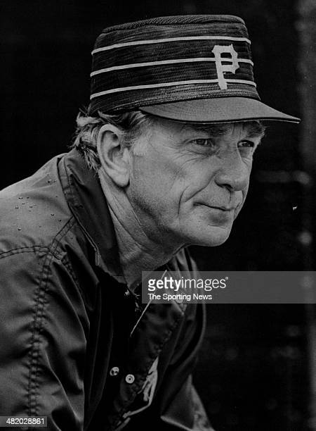 Manager Chuck Tanner of the Pittsburgh Pirates loooks on circa 1970s
