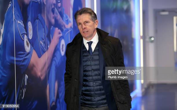 Manager Claude Puel ahead of the the FA Cup fifth round match between Leicester City and Sheffield United at King Power Stadium on February 16th 2018...