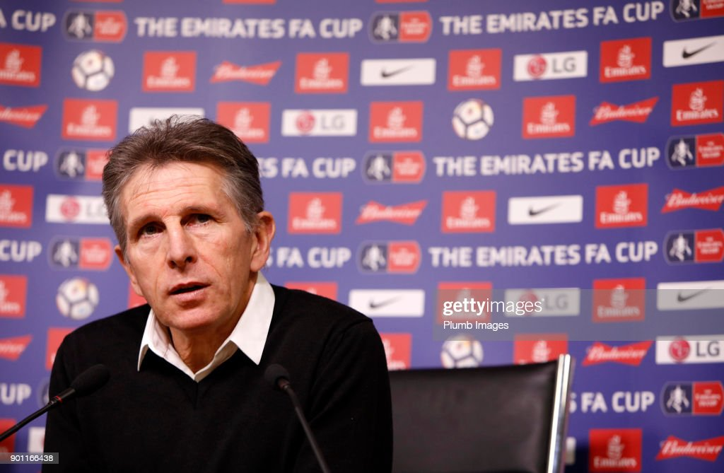 Manager Claude Puel during the Leicester City press conference at Belvoir Drive Training Complex on January 04 , 2018 in Leicester, United Kingdom.