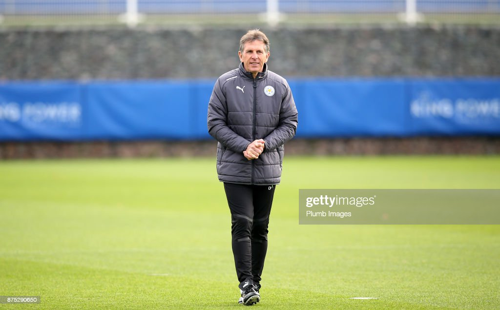 Manager Claude Puel during the Leicester City training session at Belvoir Drive Training Complex on November 17 , 2017 in Leicester, United Kingdom.
