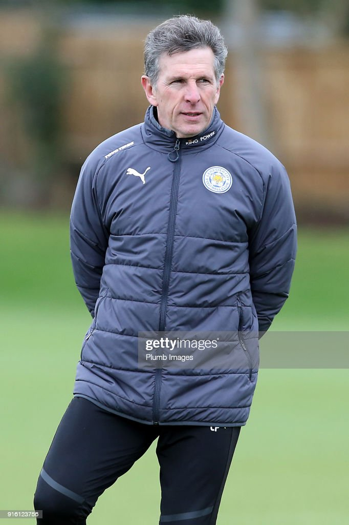 Manager Claude Puel during the Leicester City training session at Belvoir Drive Training Complex on February 09 , 2018 in Leicester, United Kingdom.