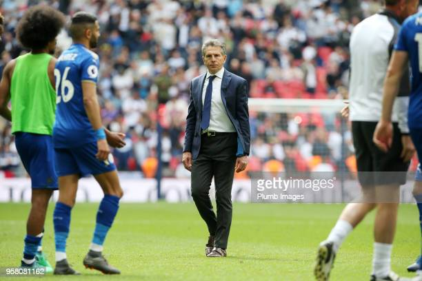 Manager Claude Puel of Leicester City after the Premier League match between Tottenham Hotspur and Leicester City at Wembley Stadium on May 13th 2018...