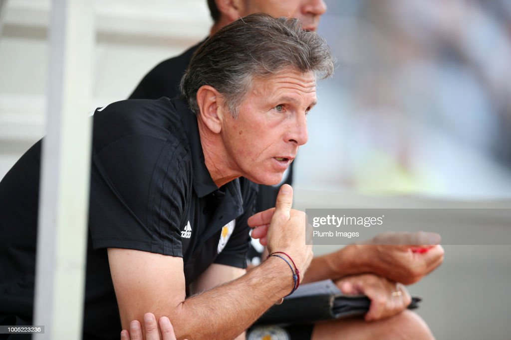 Manager Claude Puel of Leicester City during the pre-season friendly match between Leicester City and Akhisarspor at Stadion Villach on July 25th, 2018 in Villach, Austria.