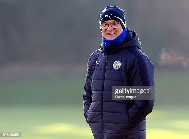 Manager Claudio Ranieri during a Leicester City training session at Belvoir Drive Training Complex on December 01 , 2016 in Leicester, United Kingdom.