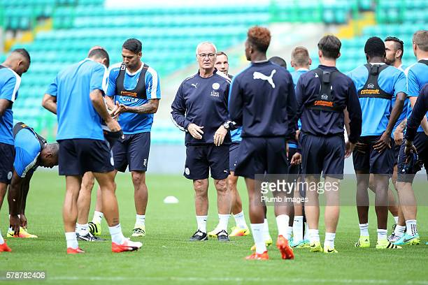Manager Claudio Ranieri during the Leicester City Training and Press Conference at Celtic Park on July 22 2016 in Glasgow United Kingdom