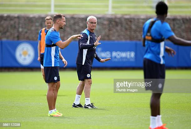 Manager Claudio Ranieri during the Leicester City Training and Press Conference at Belvoir Drive Training Complex on August 05 2016 in Leicester...