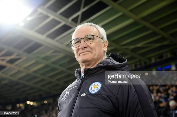 Manager Claudio Ranieri of Leicester City at King Power Stadium ahead of the Emirates FA Cup Fourth Round Replay match between Leicester City and...