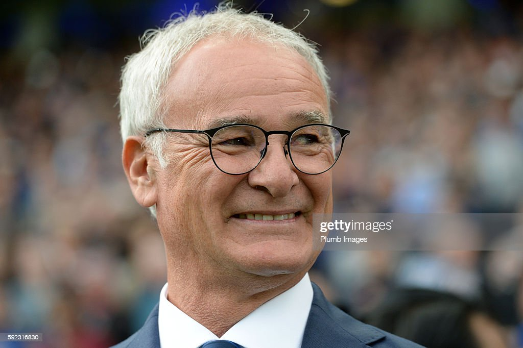 Manager Claudio Ranieri of Leicester City during the Premier League match between Leicester City and Arsenal at the King Power Stadium on August 20th , 2016 in Leicester, United Kingdom.