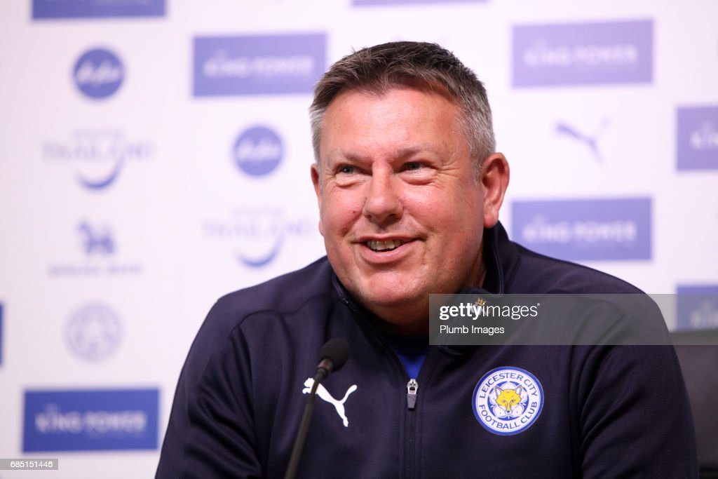 Manager Craig Shakespeare during the Leicester City press conference at King Power Stadium on May 19 , 2017 in Leicester, United Kingdom.
