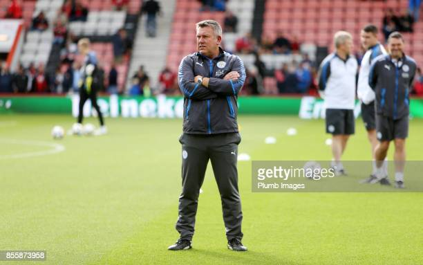 Manager Craig Shakespeare of Leicester City at Vitality Stadium ahead of the Premier League match between Bournemouth and Leicester City at Vitality...