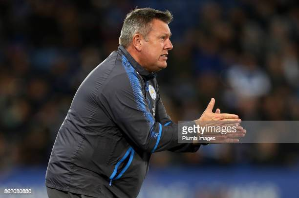 Manager Craig Shakespeare of Leicester City during the Premier League match between Leicester City and West Bromwich Albion at The King Power Stadium...