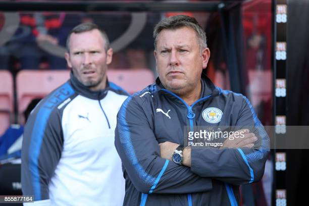 Manager Craig Shakespeare of Leicester City looks on during the Premier League match between Bournemouth and Leicester City at Vitality Stadium on...