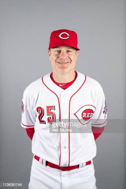 Manager David Bell of the Cincinnati Reds poses during Photo Day on Tuesday February 19 2019 at Goodyear Ballpark in Goodyear Arizona