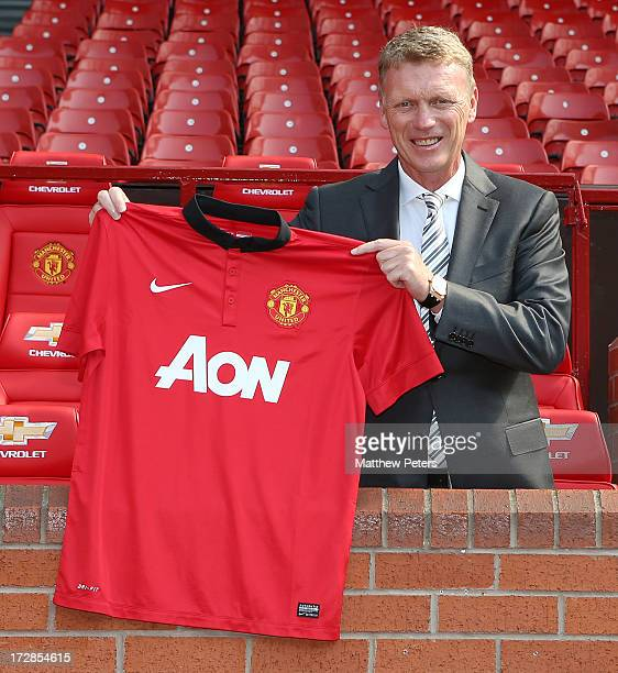 Manager David Moyes of Manchester United at Old Trafford on July 5 2013 in Manchester England