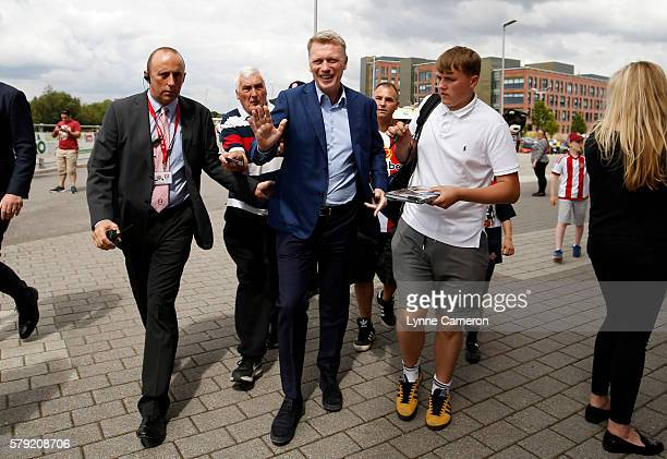 Manager David Moyes of Sunderland arrives prior to a PreSeason Friendly match between Rotherham United and Sunderland at AESSEAL New York Stadium on...