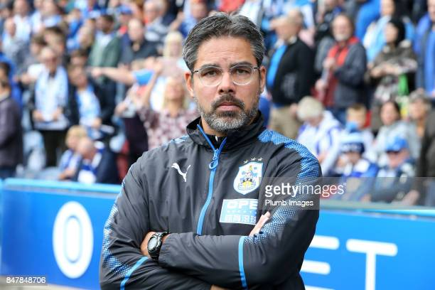 Manager David Wagner of Huddersfield Town at John Smith's Stadium ahead of the Premier League match between Huddersfield Town and Leicester City at...