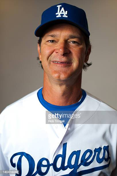 Manager Don Mattingly of the Los Angeles Dodgers poses during photo day at the Glendale Sports Complex on March 2 2012 in Glendale Arizona