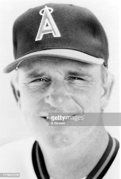 Manager Doug Radar of the California Angels poses for a portrait circa 1989 at Anaheim Stadium in Anaheim California