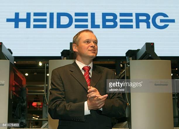 Manager, DVorstandsvorsitzender Heidelberger Druckmaschinen AGauf der dupra print media messe in Düsseldorf