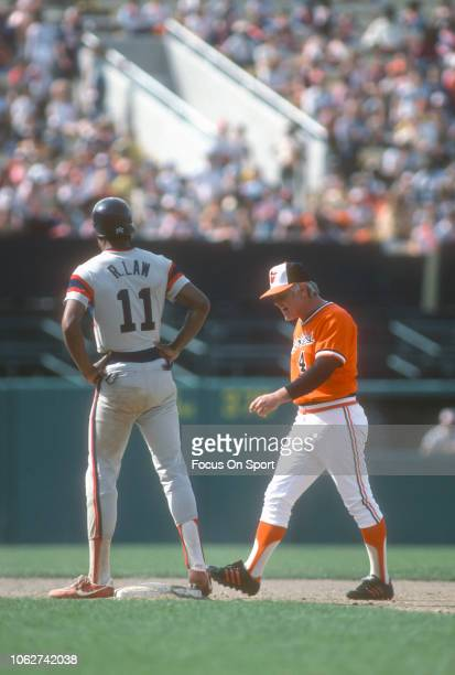 Manager Earl Weaver of the Baltimore Orioles walks back towards the dugout after arguing with an umpires during a Major League Baseball game against...