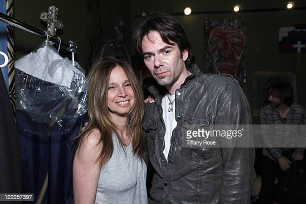 Manager Ellen Meyer and Billy Burke attend the Billy Burke Album Release Party at House of Blues Sunset Strip on June 22 2010 in West Hollywood...