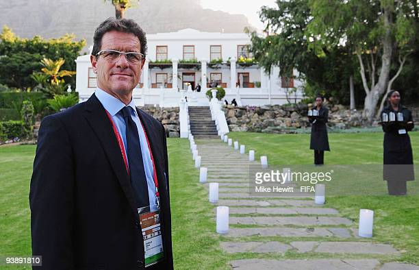 Manager Fabio Capello of England attends the FIFA 2010 World Cup banquet at the official residence of the Premier of the Western Cape in Leeuwenhof,...