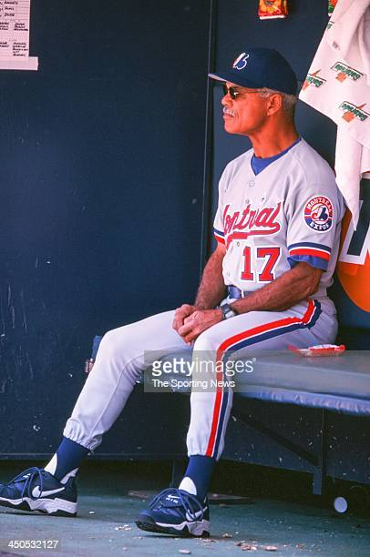 Manager Felipe Alou of the Montreal Expos during the game against the San Diego Padres at Qualcomm Stadium on May 28 2000 in San Diego California