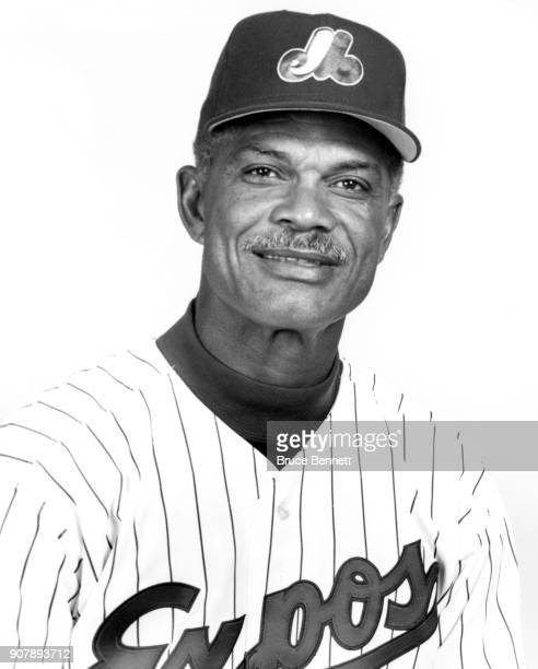 Manager Felipe Alou of the Montreal Expos poses for a portrait during Spring Training circa March 1995 in West Palm Beach Florida